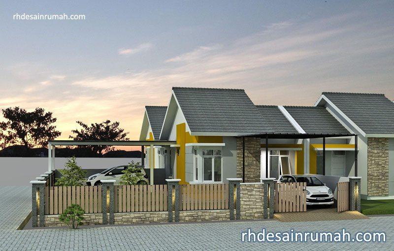 Fasade perumahan minimalis lahan hook