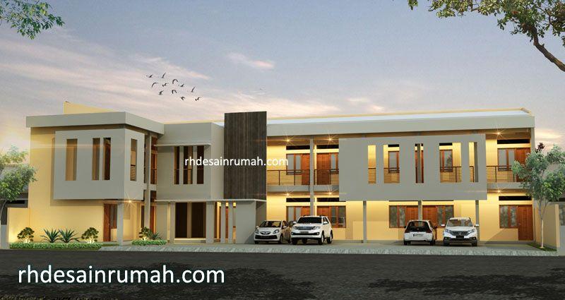 Fasade rumah dan kos di lahan lebar