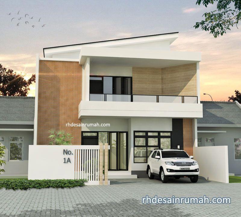 Fasade rumah minimalis modern lebar 10m di Surabaya