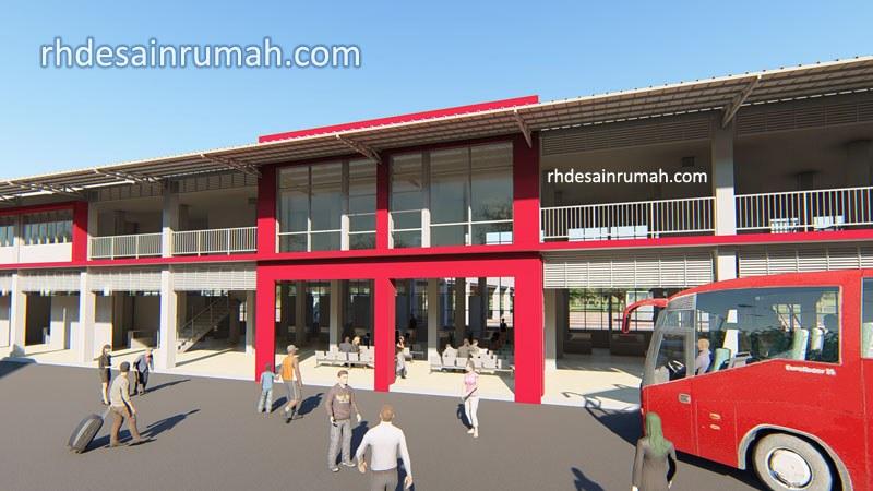 Konsep Desain Terminal Bus minimalis