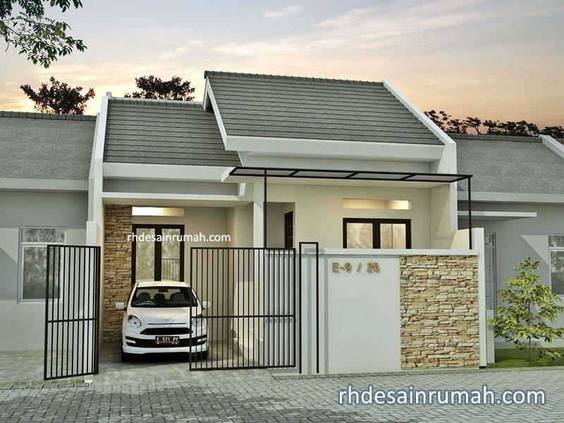 Rumah 1 lantai minimalis atap pelana di Surabaya