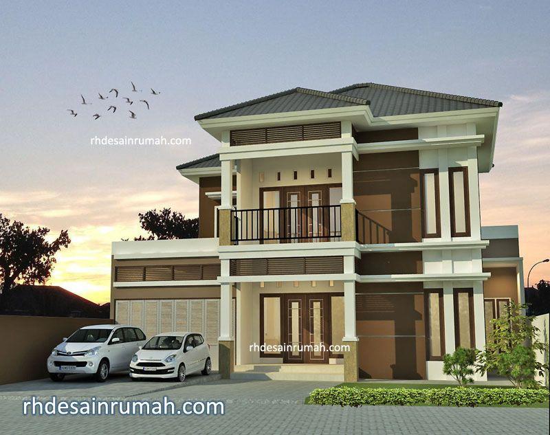 Rumah megah coklat lebar 15 meter di Bandung