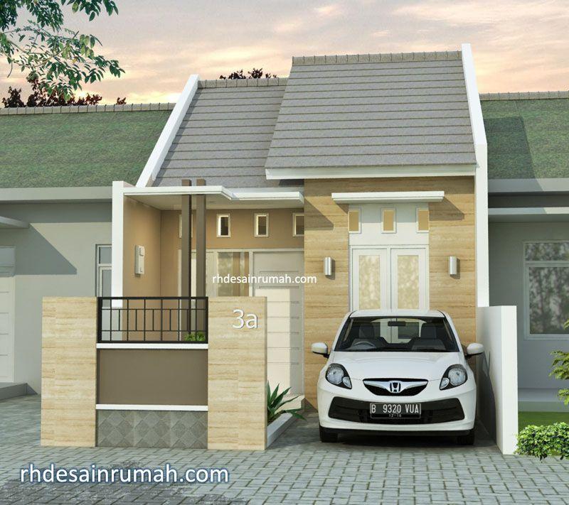 Rumah mini elegan lebar 5 meter atap pelana