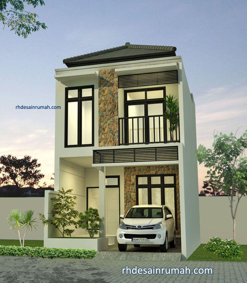 Rumah minimalis aksen batu alam di Malang