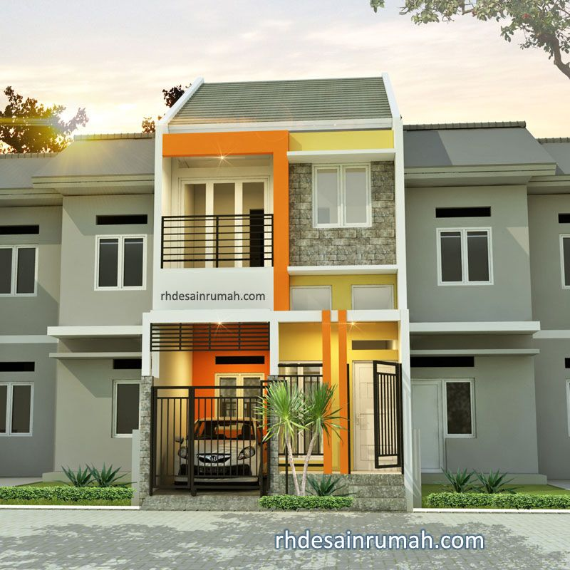 Rumah minimalis nuansa kuning orange di Bandung