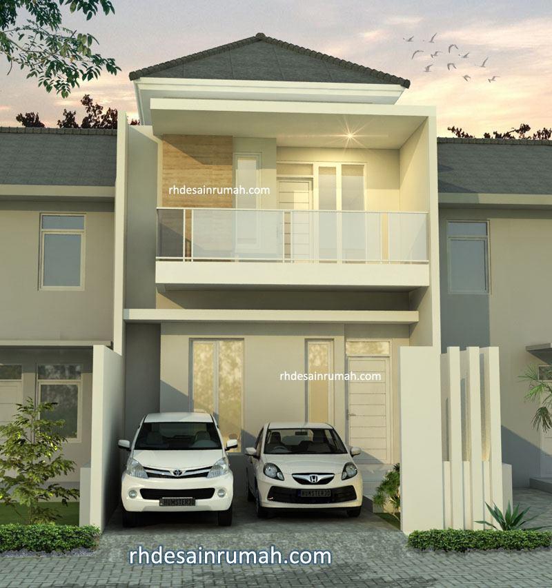 Rumah minimalis nuansa putih atap limasan di jogja