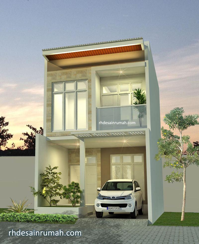 Rumah nuansa putih dan granit di Bekasi