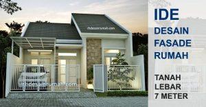 Desain Tampak Depan Rumah Minimalis Lebar 7 Meter