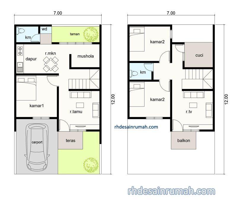 Denah Rumah 3 Kamar Dan Mushola Jasa Desain Rumah Online