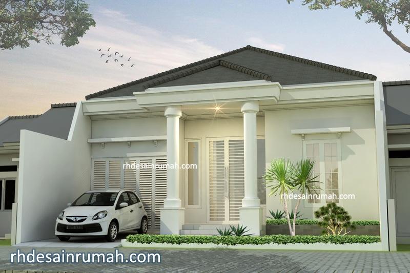 Rumah Putih 1 Lantai Pilar Megah di Bogor xxx