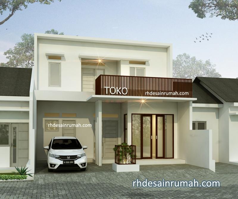 Desain Rumah dengan Toko Lebar 8 Meter