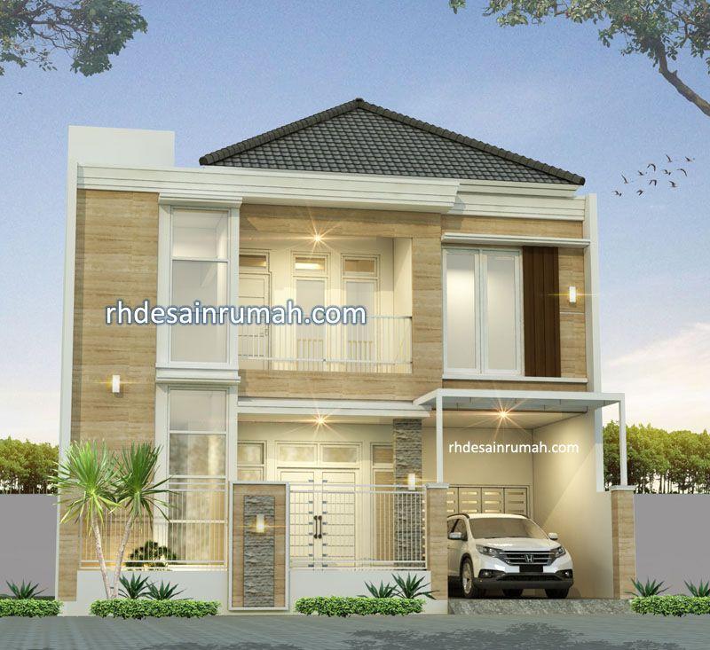 Rumah Granit aksen putih lebar 10m di Medan