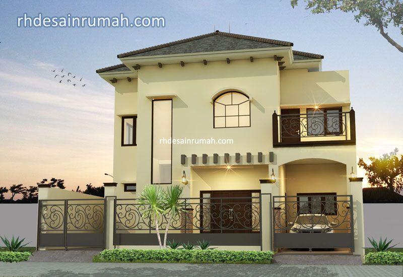 Rumah Modern 2 Lantai Nuansa Coklat di Tangerang