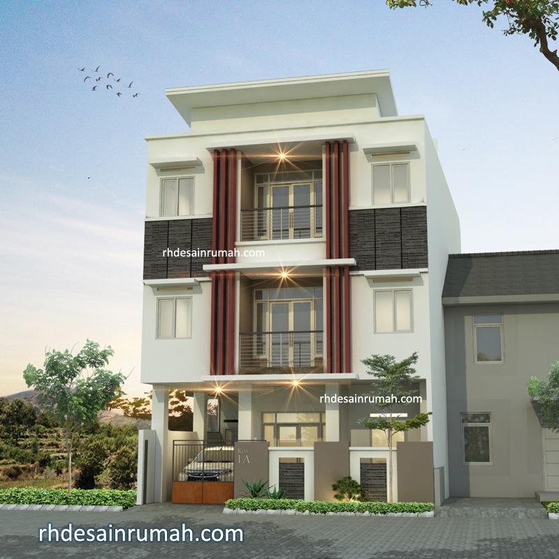 Desain Rumah dan Kos 3 Lantai di Malang