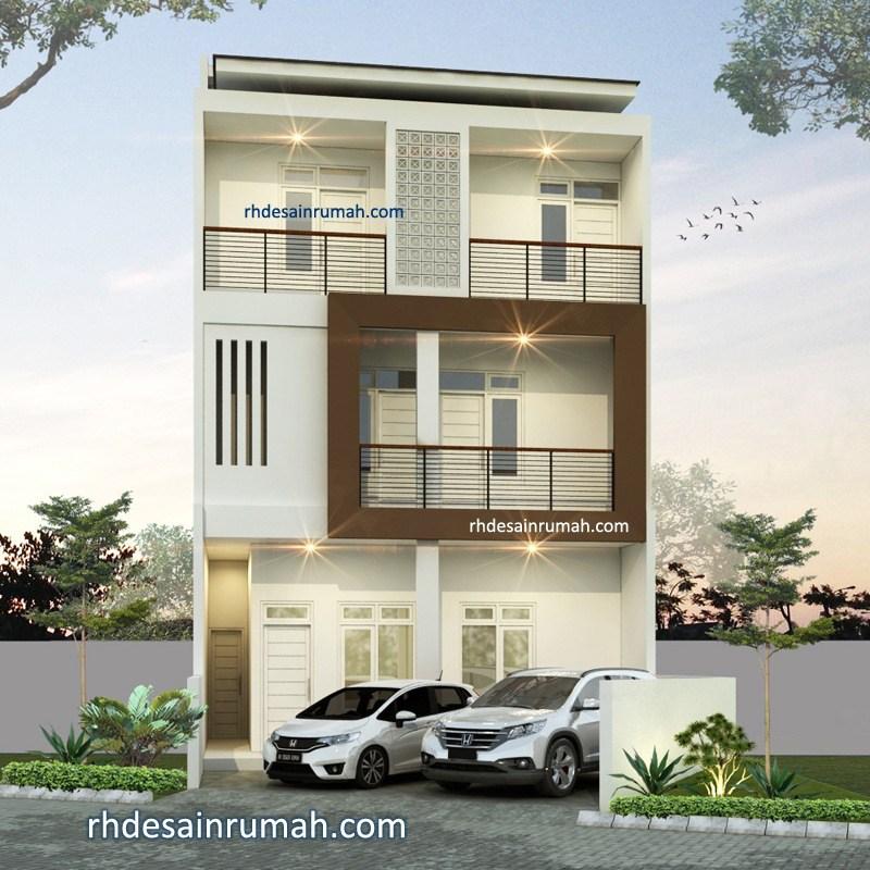 fasade rumah megah 3 lantai di Bandung