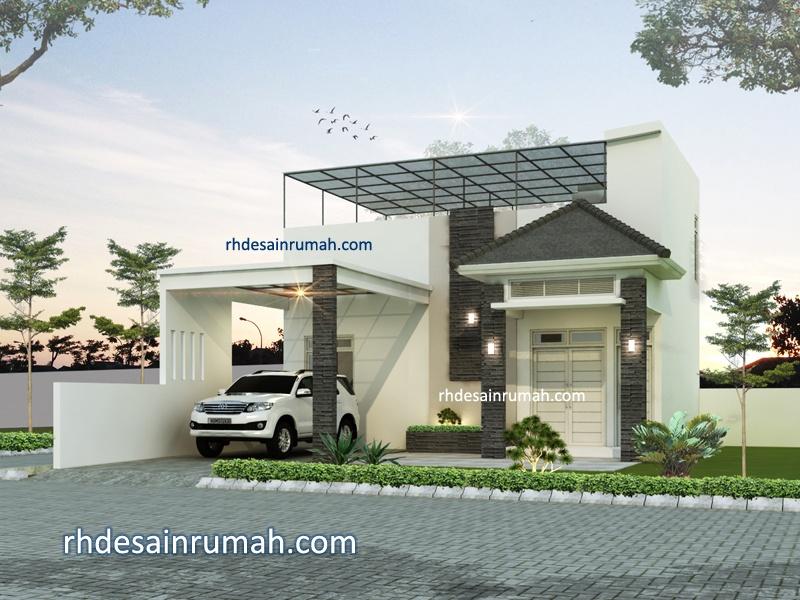 Desain Rumah Gaya Apartemen dan Rooftop di Magelang