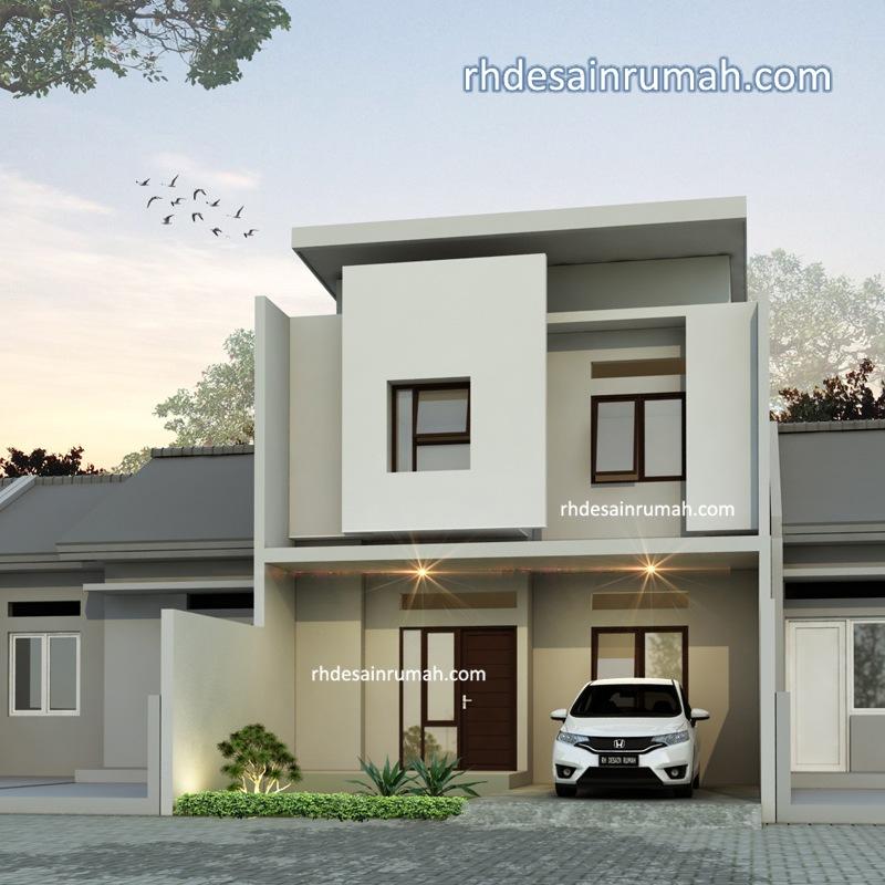 rumah minimalis modern kotak putih