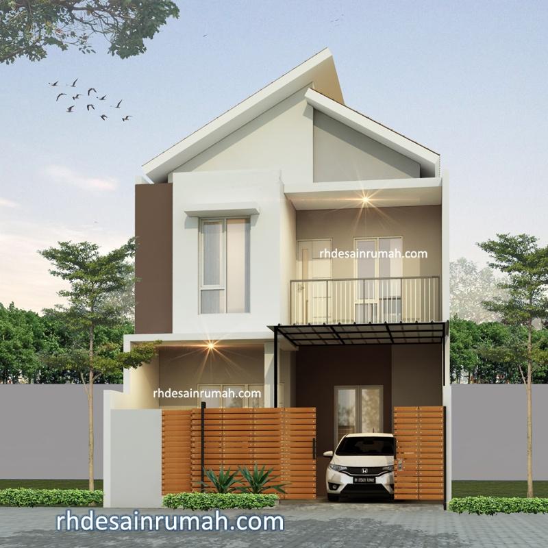 Rumah 2 Lantai Atap Jengki Lebar 7m