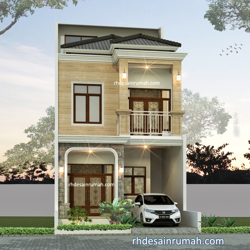 Rumah 2,5 Lantai Lebar 6m Semi Klasik