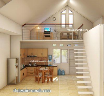 desain interior minimalis lantai mezanine